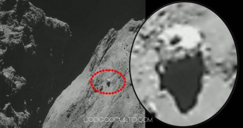 Segundo objeto desconocido fotografiado en el cometa 67P