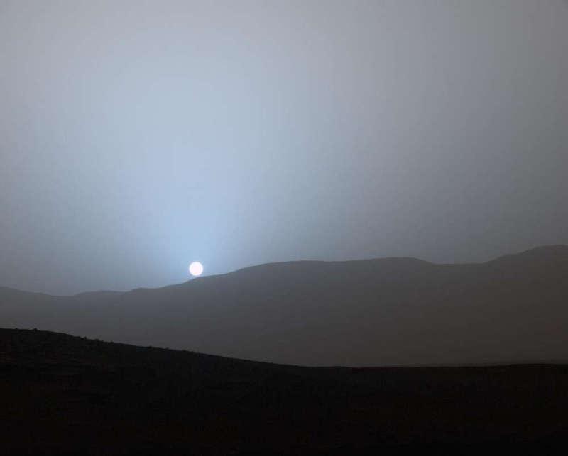 El atardecer en Marte es azul