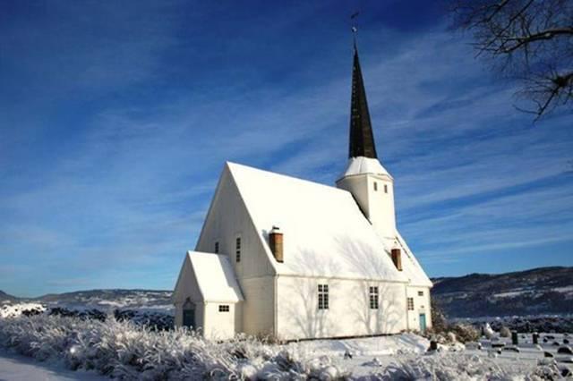 El antiguo edificio que los arqueólogos suponen que era un templo de culto se encontraba no lejos de la iglesia de Vingrom