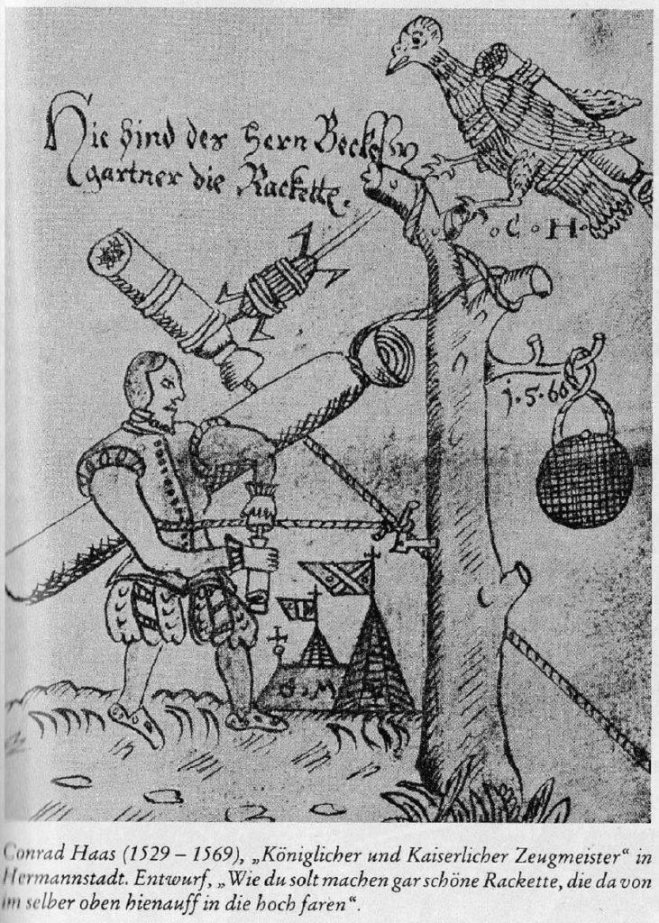 Descripción de un cohete de Conrad Haas