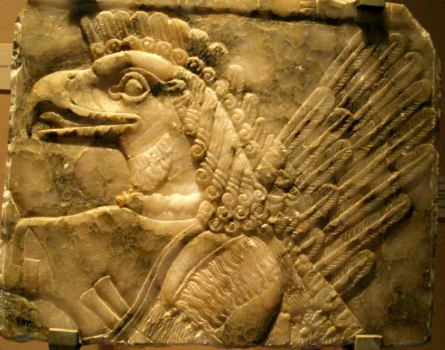 Un bajo relieve del palacio de Nimrud