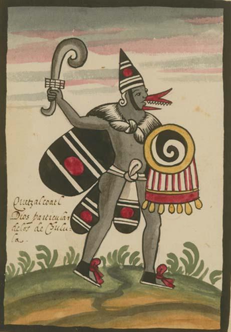 Quetzalcóatl en el Códice Tovar, manuscrito posterior a la conquista.