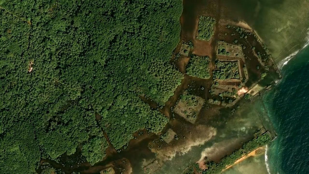 Encuentran una antigua ciudad en el medio del Océano Pacífico