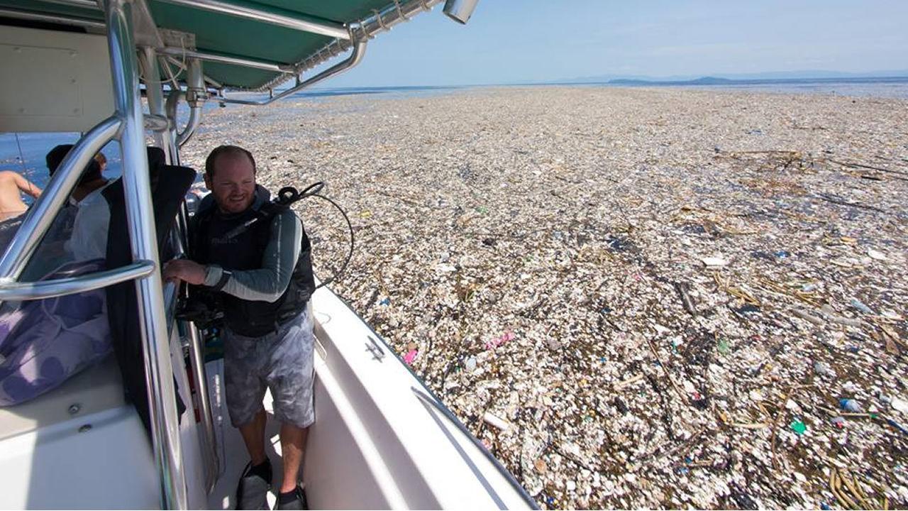 Trágicas imágenes muestran la contaminación del plástico en el Caribe