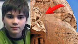 Niño genio revela que la humanidad cambiará cuando se descubran los secretos de la Gran Esfinge de Giza