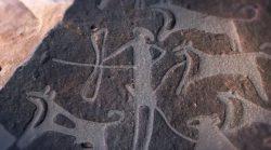 Hallan primeras imágenes de perros domesticados con correas de hace 8.000 años