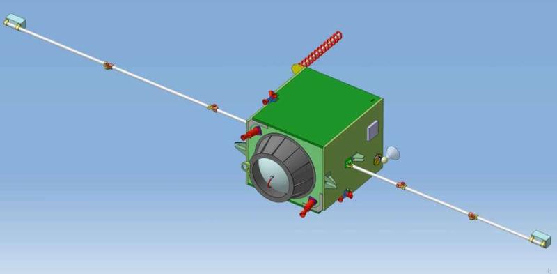 Diseño de la sonda Europa Descent Probe, que impactará con la luna helada Europa