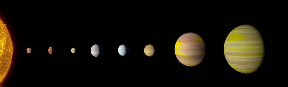Con el descubrimiento de un octavo planeta, el sistema Kepler-90 es el primero en vincularse con nuestro sistema solar en cantidad de planetas
