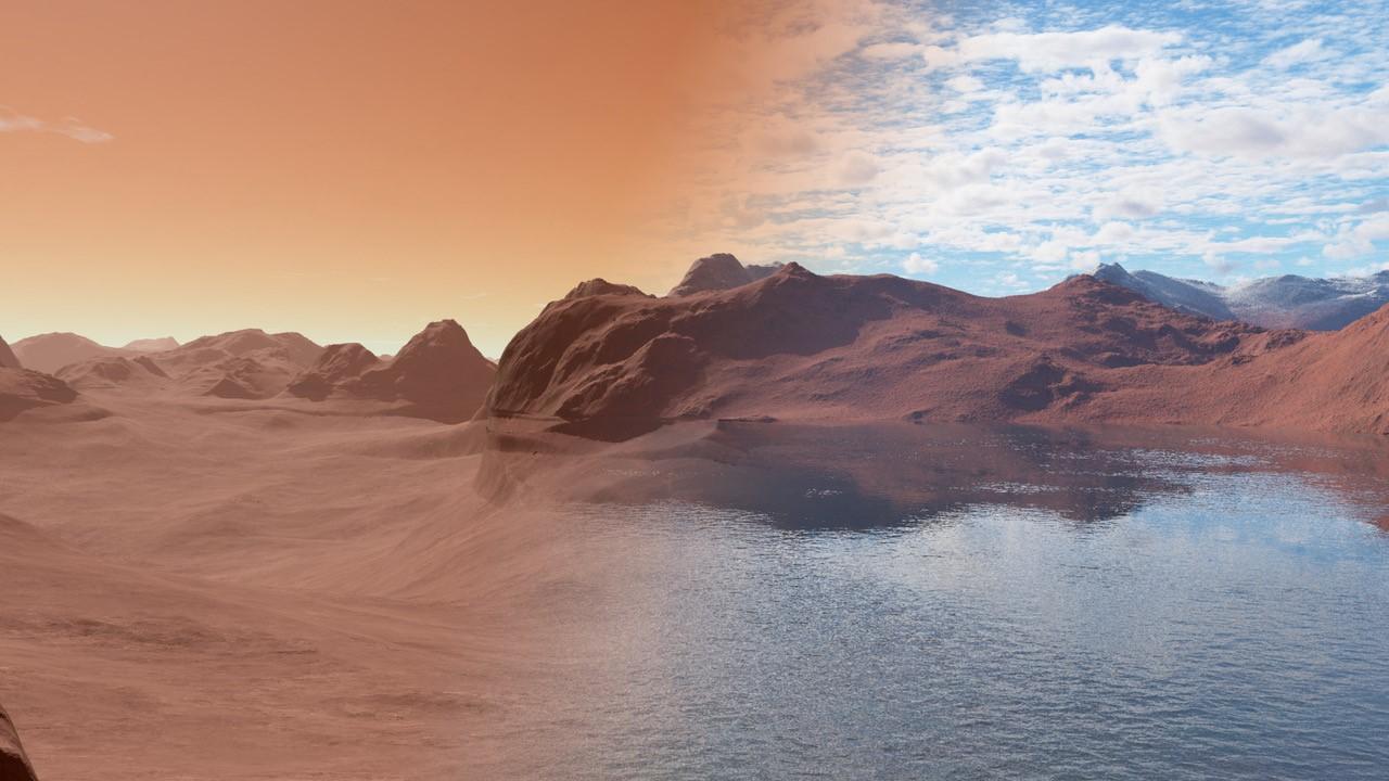 El agua en Marte podría encontrarse aprisionada entre sus rocas