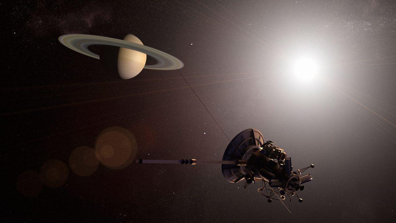 Cassini capturó una «extraña sombra» en la ionósfera de Saturno antes de morir