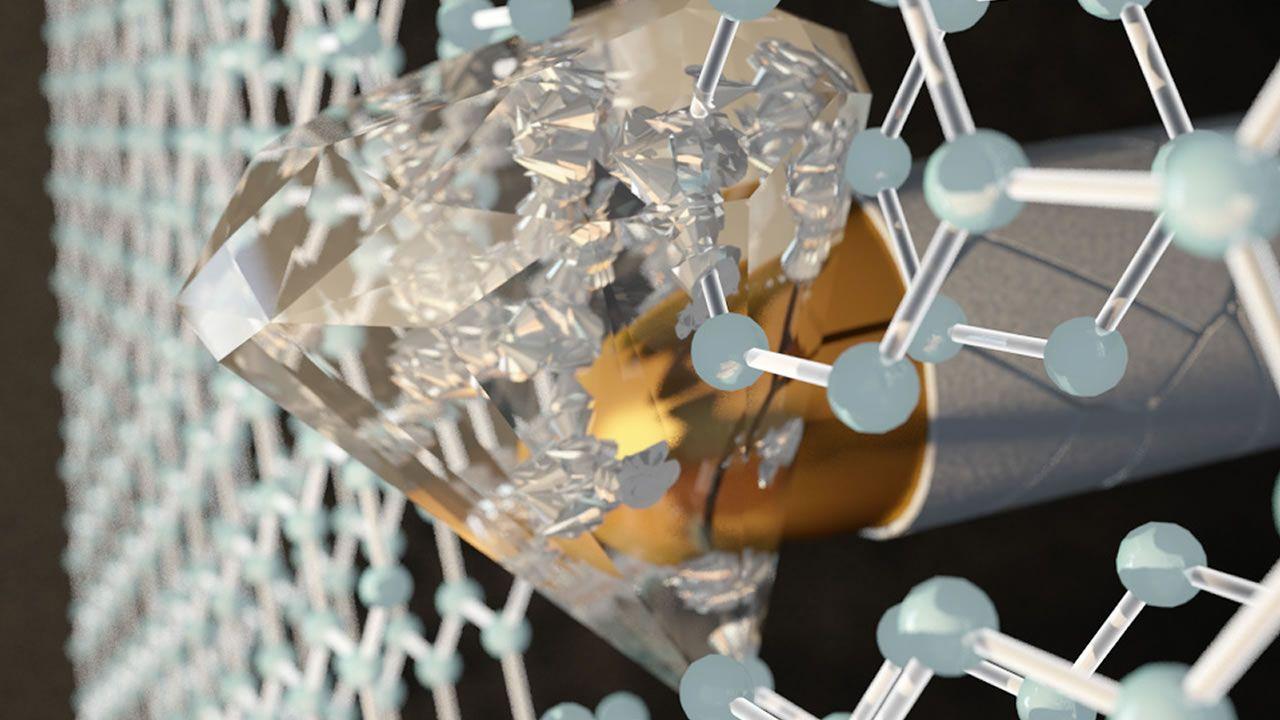Descubren un material que se vuelve más duro que el diamante cuando es alcanzado por una bala