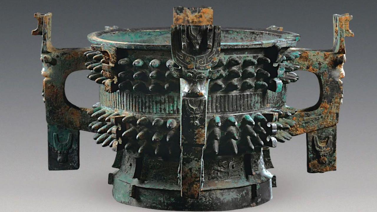 Hallan impresionante tazón de bronce de 3.000 años de antigüedad en China