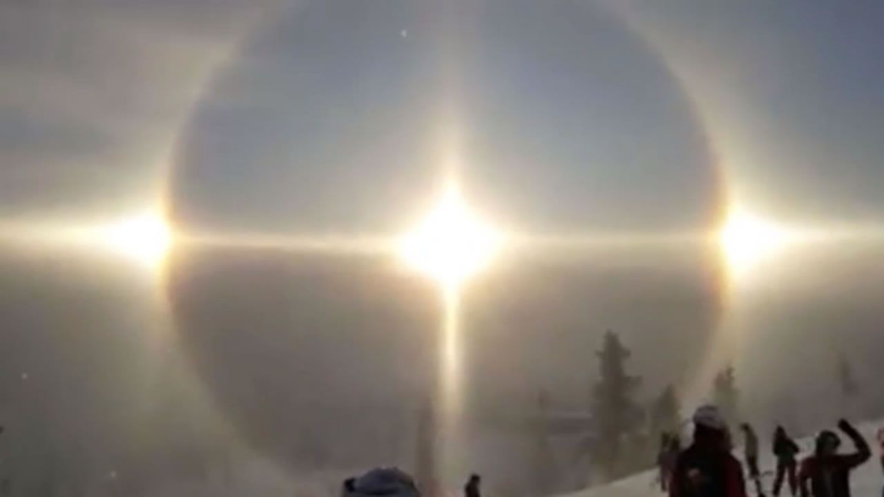 Halo solar: Extraño fenómeno meteorológico fue visto en Suecia (Vídeo)