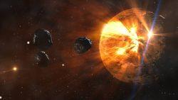 Objetos del tamaño de la Luna golpearon la Tierra reiteradamente