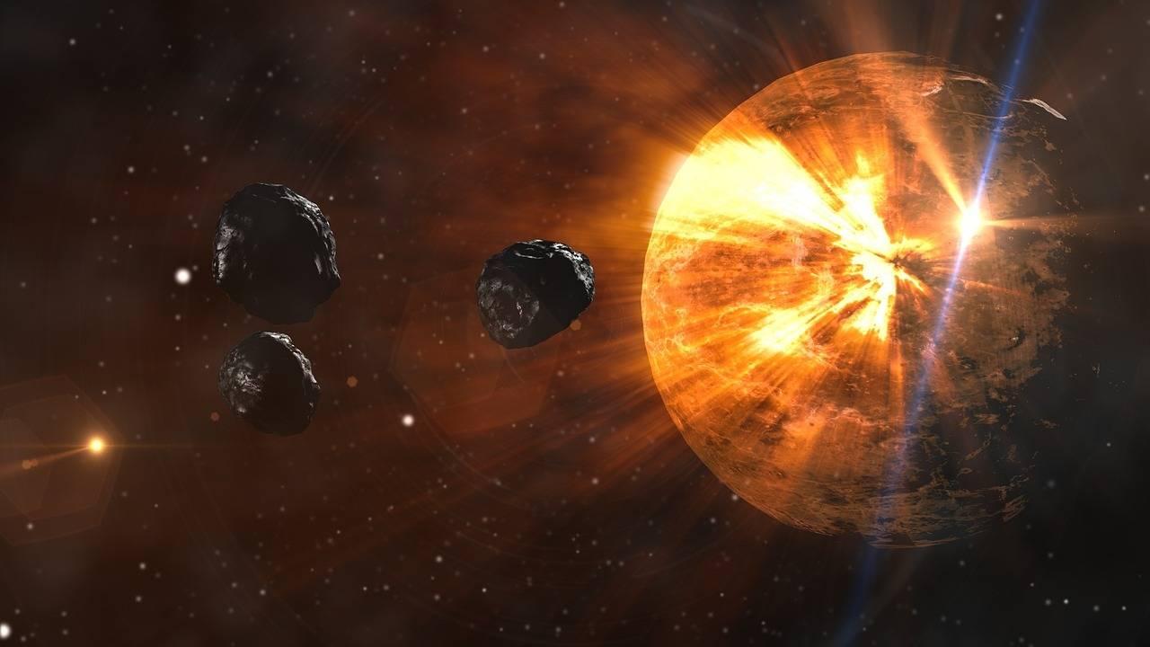 la Tierra primitiva fue golpeada por objetos inmensos