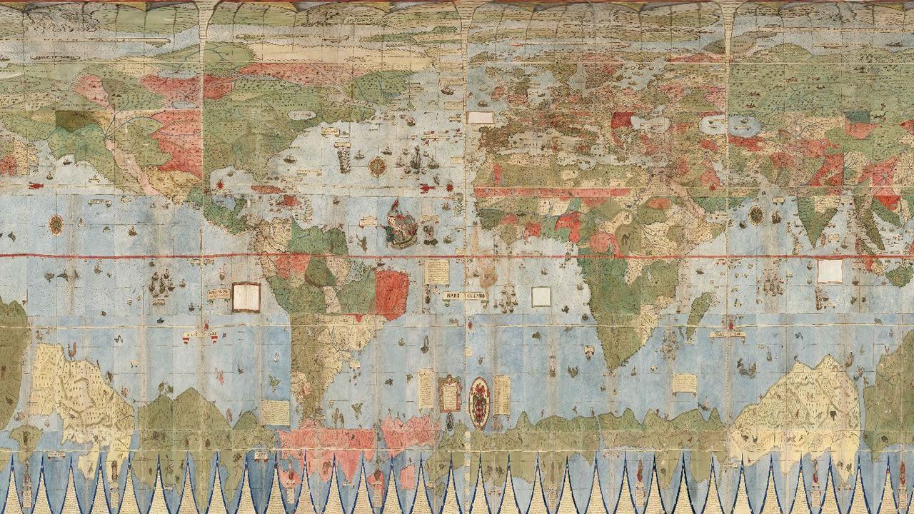 Restauran un impresionante mapa de todo el mundo del siglo XVI