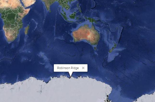 Los investigadores recogieron muestras de suelo del área Robinson Ridge en la Antártida