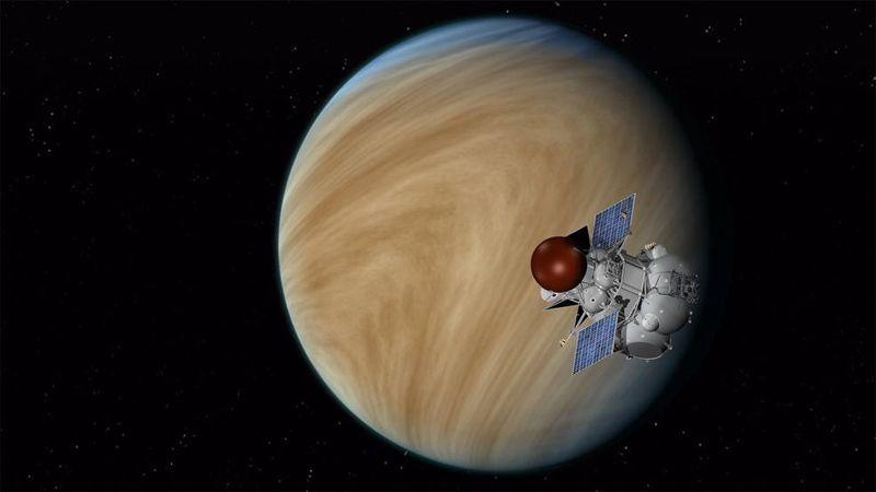 Representación artística de la misión de la misión Venera-D