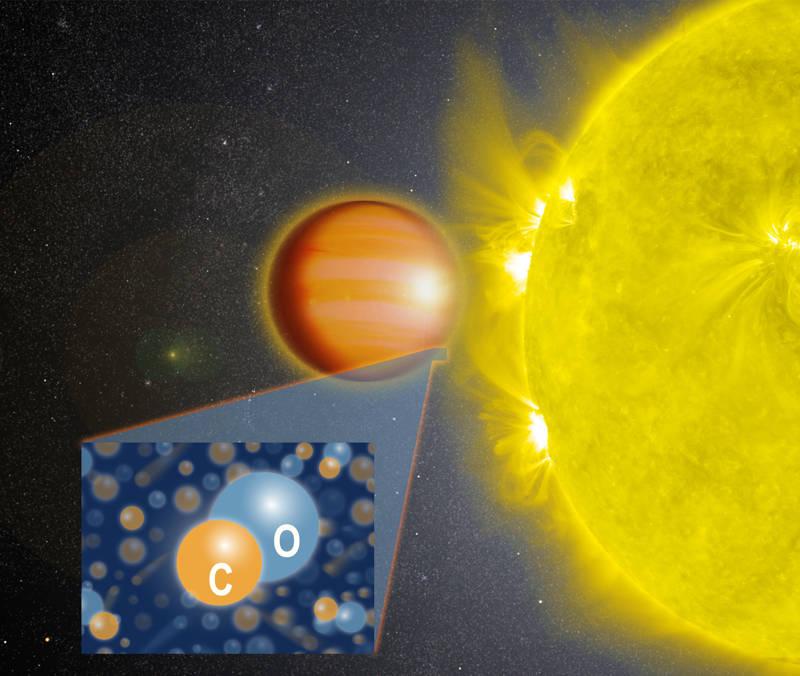 Un equipo de científicos liderado por la NASA determinó que WASP-18b, un «Júpiter caliente» ubicado a 325 años luz de la Tierra, tiene una estratosfera que está cargada con monóxido de carbono o CO