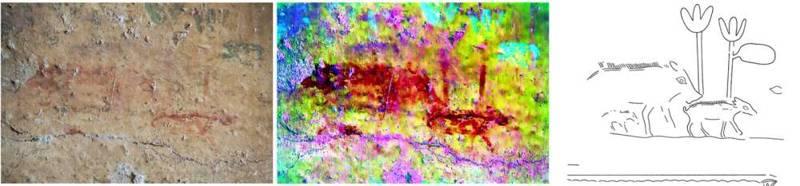 Los investigadores identificaron un tercer cerdo en esta imagen