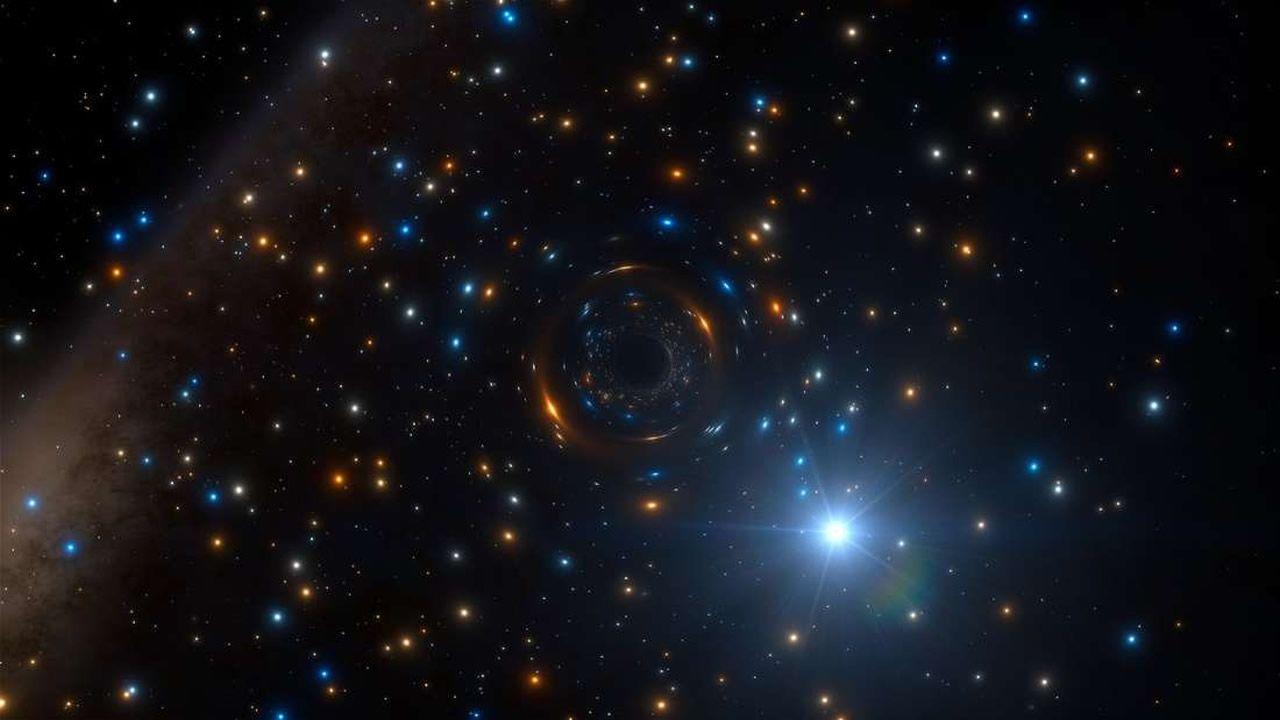 Descubren agujero negro tirando de una estrella en un cúmulo globular