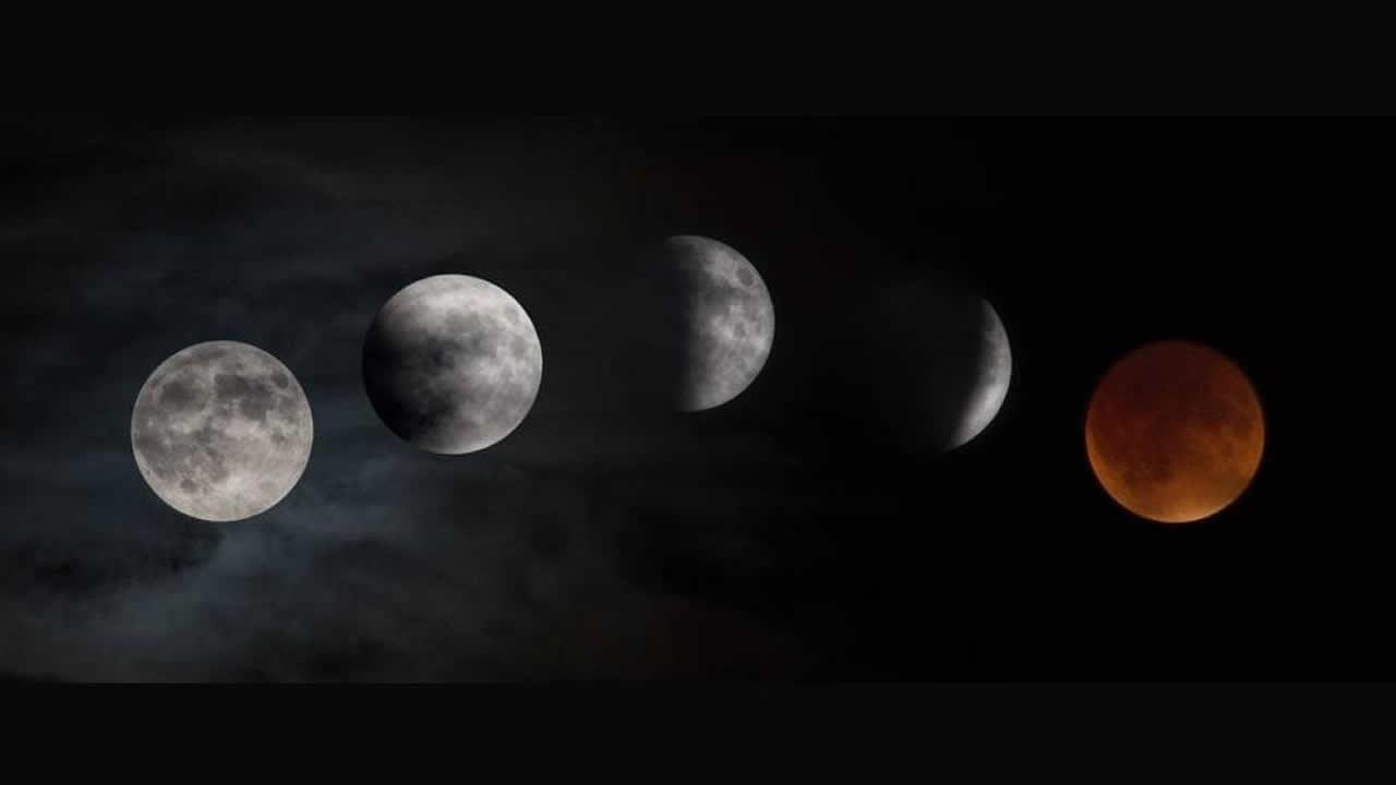 Así se vio el eclipse de «superluna de sangre azul» en el mundo