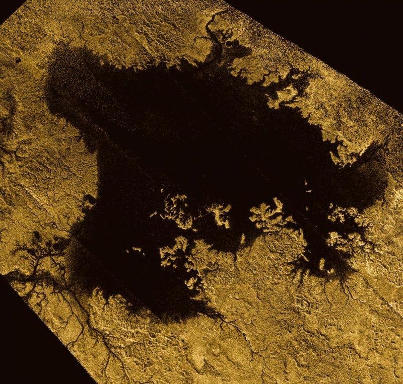 Ligeia Mare, un mar de hidrocarburos en Titán