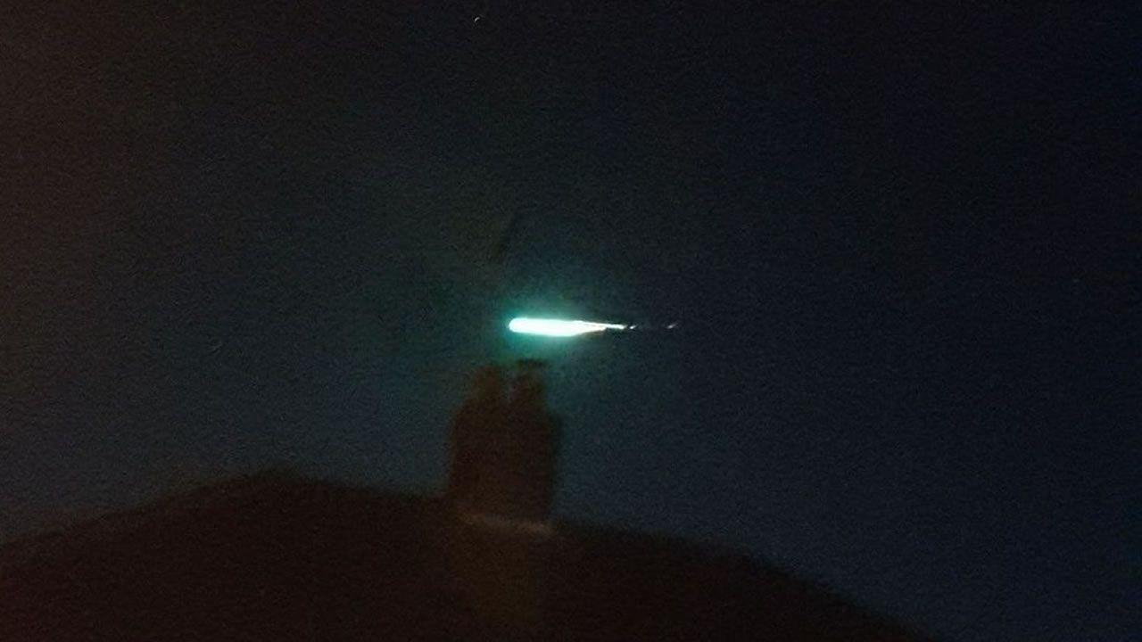 Gran meteoro verde se desplazó por cielos de Reino Unido en vísperas de Año Nuevo