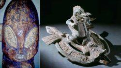 Hallan artefactos de 7.000 años con posibles representaciones de extraterrestres