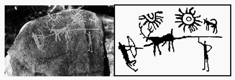 Fotografía de la talla de piedra de Burzahom