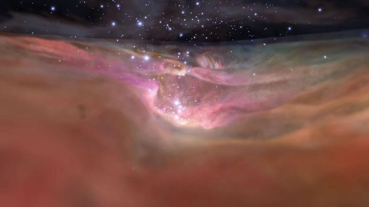 Un gran recorrido virtual a través de la Nebulosa de Orión (Vídeo)