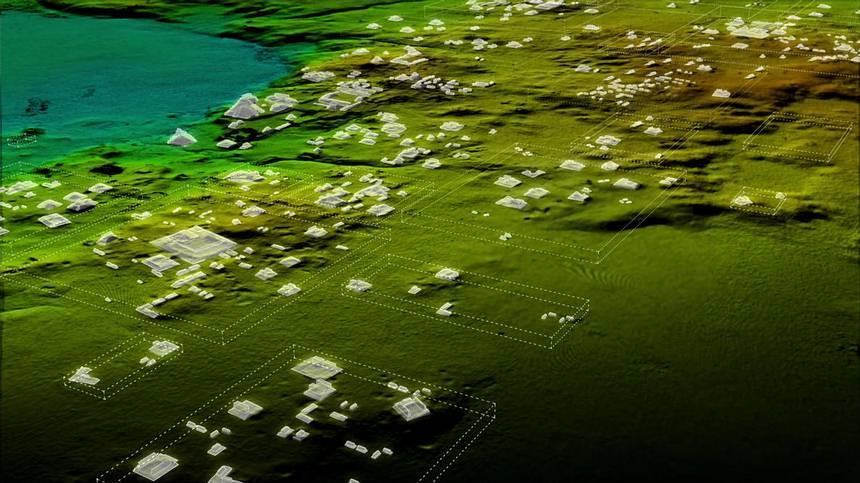 Más de 60.000 casas, palacios, súper carreteras y otros asentamientos humanos fueron revelados con escaneo láser
