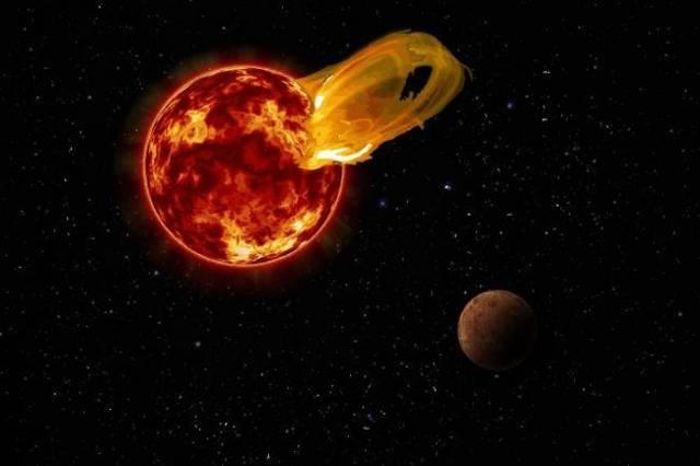 Una llamarada gigante proveniente de la estrella Proxima Centauri ocurrió el 24 de marzo de 2017