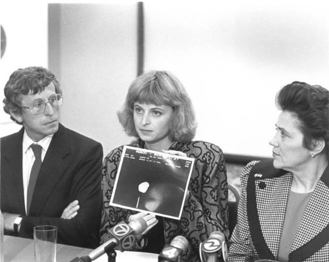 Conferencia de prensa de la Dra. Marina Popovich, realizada en 1991