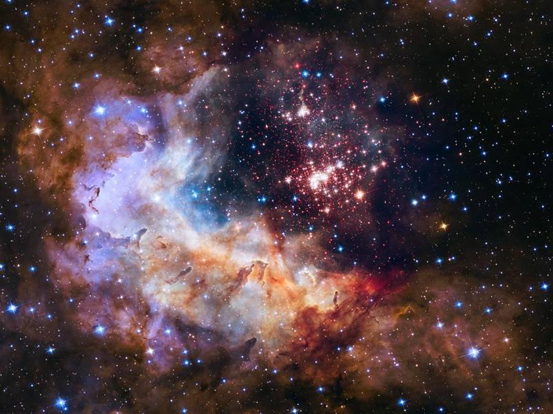 El 25° aniversario del Telescopio Hubble estuvo marcado por esta imagen que presenta una nube gigante de hidrógeno en la Vía Láctea