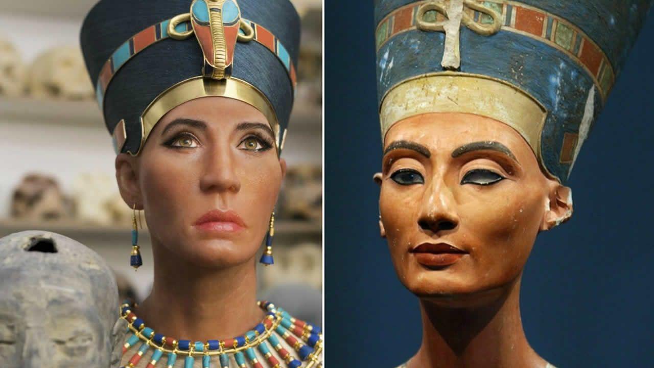 Reconstruyen rostro de Nefertiti, pero surge la polémica por piel «demasiado clara»