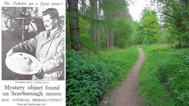 El hallazgo en Silpho Moor, cerca de Scarborough, apareció en los titulares de los periódicos a finales de 1957