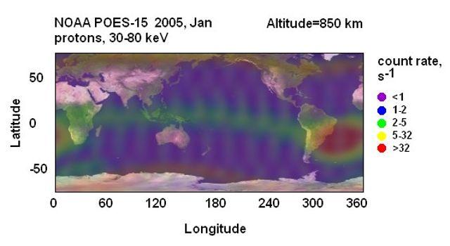 Ilustración de AAS y mapa de flujo de protones