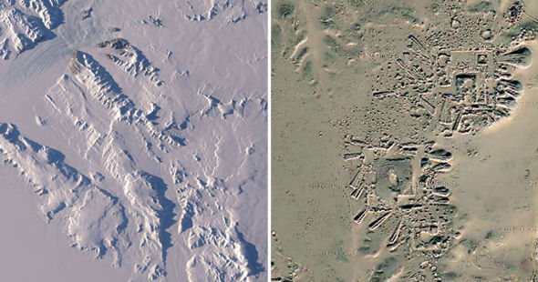 El hielo derretido en la Antártida reveló estas singulares estructuras