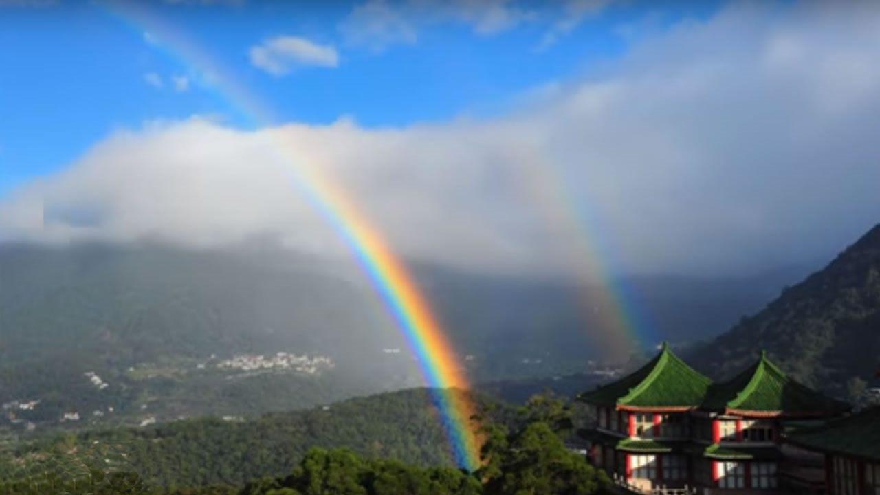 Este es el arco iris de mayor duración del mundo, y ganó el record Guinness (Vídeo)