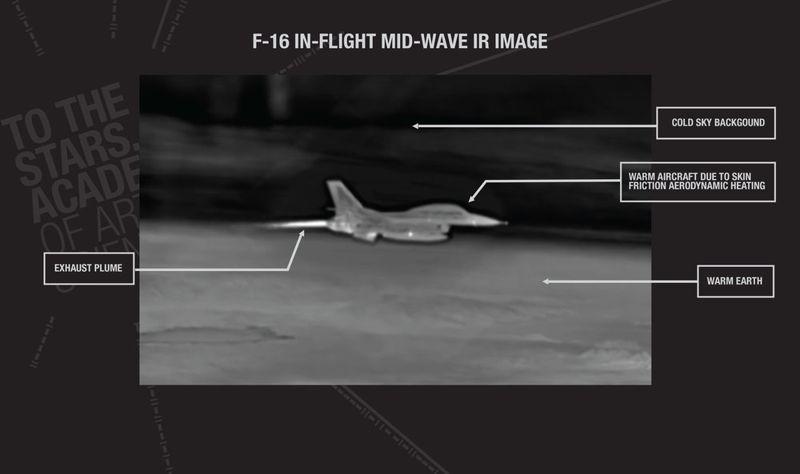 Imágenes infrarrojas de aviones conocidos muestran características claramente diferentes al objeto en el vídeo GO FAST