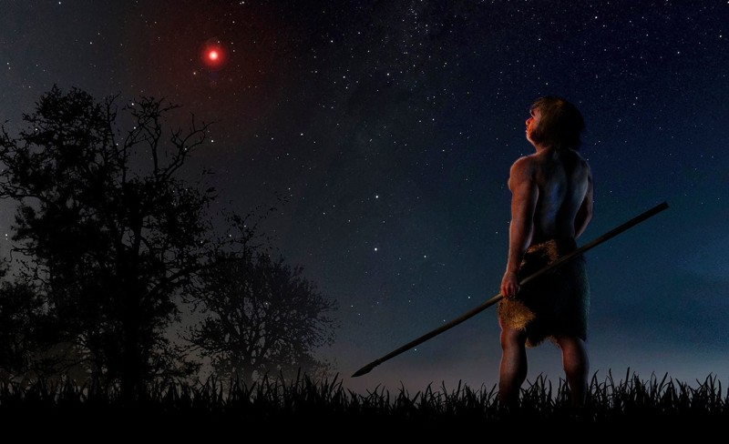 Cuando los homo sapiens y neandertales compartían los recursos de nuestro planeta y luchaban por sobrevivir, hace 70.000 años, una estrella alienígena cruzó nuestro vecindario estelar
