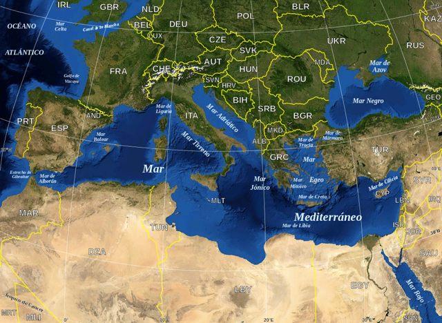 Mar Mediterráneo hoy en día