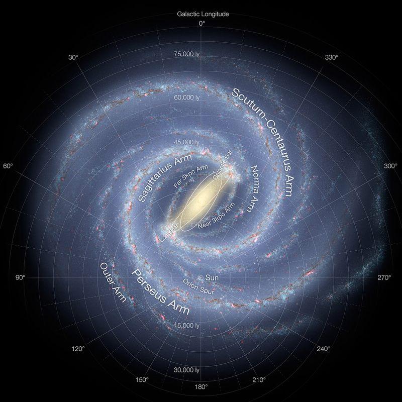 Impresión artística de la Vía Láctea