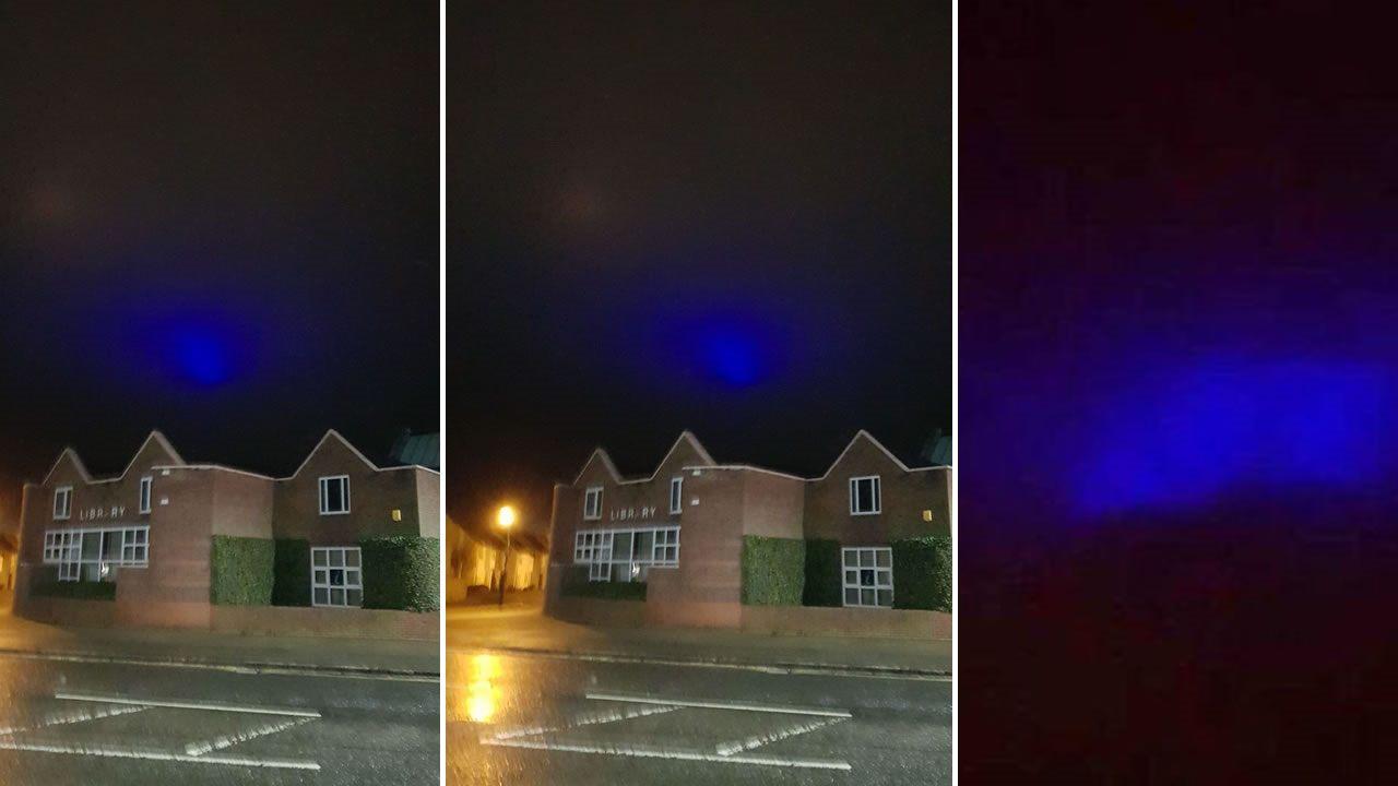 Aparecen misteriosas luces azules en cielo de Reino Unido