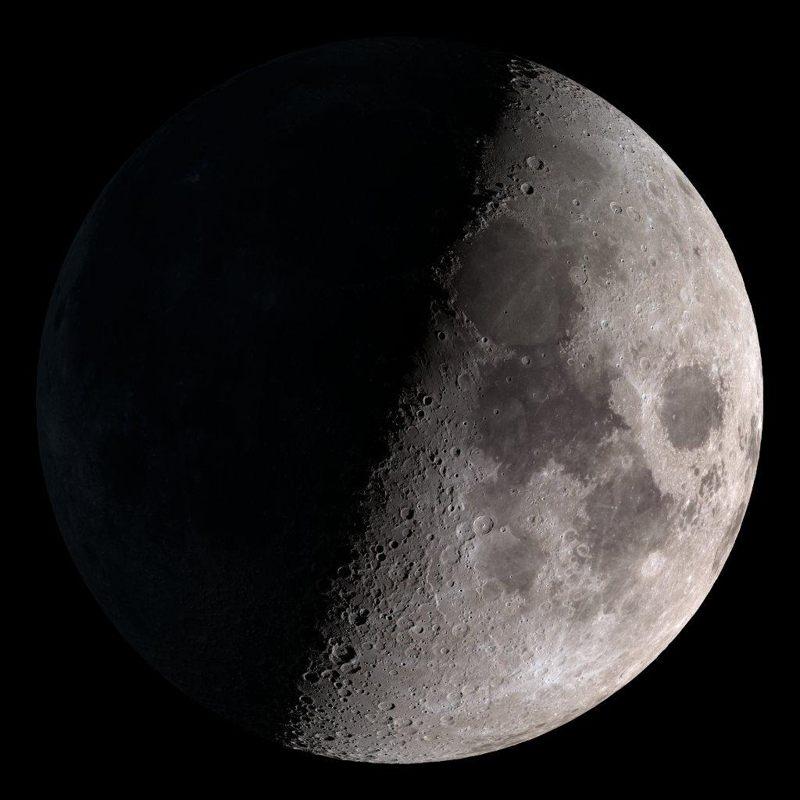 Fotografía de la Luna tomada por el LRO