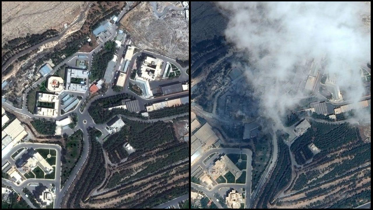 Imágenes satelitales muestran la destrucción en Siria luego del bombardeo