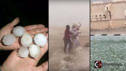 Intensadas granizadas golpean Arabia Saudita matando cientos de animales