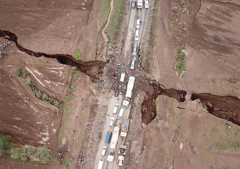 Grieta gigantesca en el Valle del Rift en Kenia