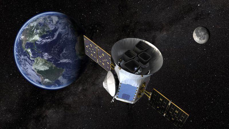 Representación artística del satélite TESS